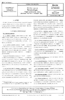 Obróbka kamienia - Terminologia - Pojęcia podstawowe, nazwy, określenia czynności i rodzajów faktur BN-84/6740-02
