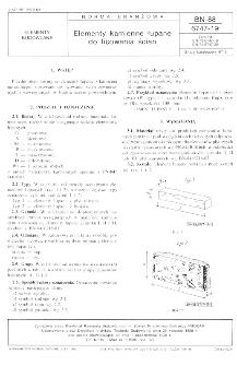 Elementy kamienne łupane do licowania ścian BN-88/6747-19