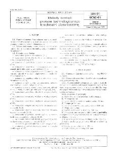 Metody kontroli procesu technologicznego krochmalni ziemniaczanej BN-91/8080-01