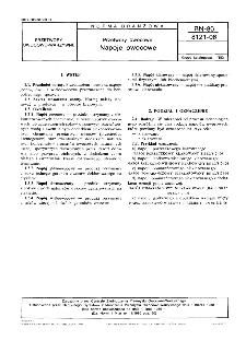 Przetwory owocowe - Napoje owocowe BN-80/8121-06