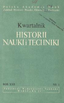 Kwartalnik Historii Nauki i Techniki R. 22 nr 3/1977