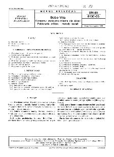 Bobo-Vita - Konserwy warzywno-mięsne dla dzieci - Pobieranie próbek i metody badań BN-85/8130-06