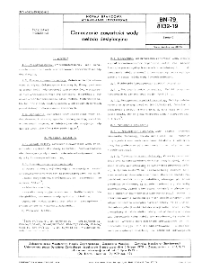 Oznaczanie zawartości wody metodą destylacyjną BN-79/8132-19