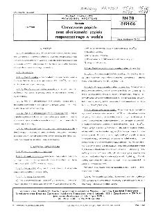 Herbata - Oznaczanie popiołu oraz alkaliczności popiołu rozpuszczalnego w wodzie BN-78/8191-06