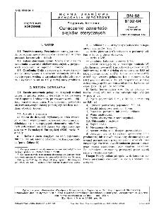 Przyprawy korzenne - Oznaczanie zawartości olejków eterycznych BN-88/8192-04