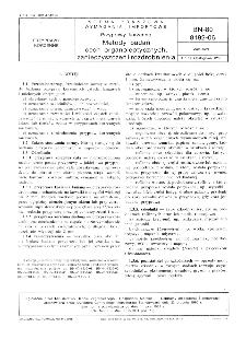 Przyprawy korzenne - Metody badań cech organoleptycznych, zanieczyszczeń i rozdrobnienia BN-80/8192-06
