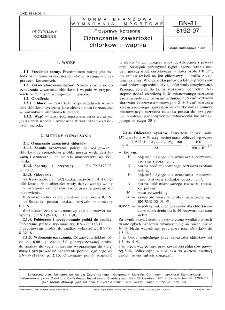 Przyprawy korzenne - Oznaczanie zawartości chlorków i wapnia BN-81/8192-07
