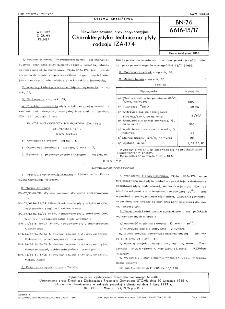 Niewulkanizowane płyty antykorozyjne - Charakterystyka techniczna płyty rodzaju IZA-174 BN-76/6616-15/17
