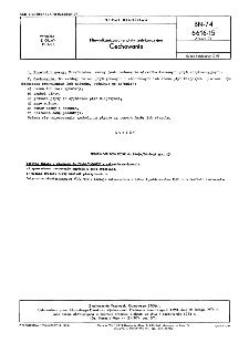 Niewulkanizowane płyty antykorozyjne - Cechowanie BN-74/6616-15 Arkusz 03