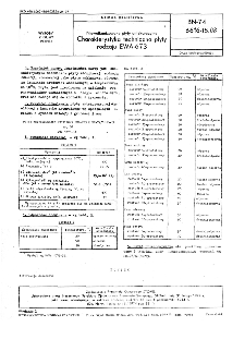 Niewulkanizowane płyty antykorozyjne - Charakterystyka techniczna płyty rodzaju EWA-673 BN-74/6616-15.08