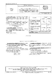 Niewulkanizowane płyty antykorozyjne - Charakterystyka techniczna płyt rodzaju EWA-470 i EWA-472 BN-74/6616-15 Arkusz 10