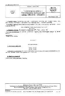 Niewulkanizowane płyty antykorozyjne - Charakterystyka techniczna płyt rodzaju OKA-873 i OKA-874 BN-74/6616-15 Arkusz 11