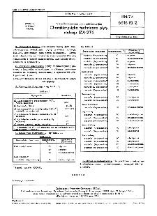 Niewulkanizowane płyty antykorozyjne - Charakterystyka techniczna płyty rodzaju IZA-276 BN-74/6616-15.12