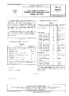 Niewulkanizowane płyty antykorozyjne - Charakterystyka techniczna płyty rodzaju IZA-236 BN-74/6616-15 Arkusz 13