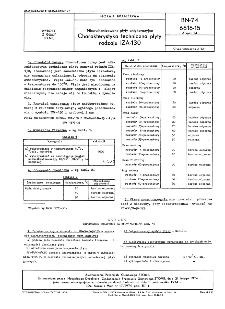 Niewulkanizowane płyty antykorozyjne - Charakterystyka techniczna płyty rodzaju IZA-130 BN-74/6616-15 Arkusz 14