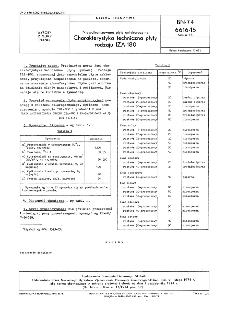 Niewulkanizowane płyty antykorozyjne - Charakterystyka techniczna płyty rodzaju IZA-180 BN-74/6616-15 Arkusz 15