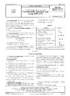 Niewulkanizowane płyty antykorozyjne - Charakterystyka techniczna płyty rodzaju EWA-573 BN-76/6616-15/18