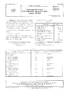 Niewulkanizowane płyty antykorozyjne - Charakterystyka techniczna płyty rodzaju IZA-113 BN-76/6616-15 Arkusz 19