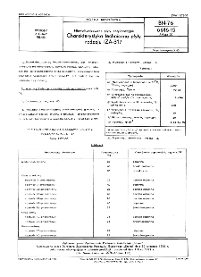 Niewulkanizowane płyty antykorozyjne - Charakterystyka techniczna płyty rodzaju IZA-317 BN-76/6616-15 Arkusz 20