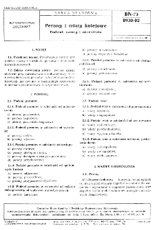 Perony i wiaty kolejowe - Podział, nazwy i określenia BN-73/8930-02