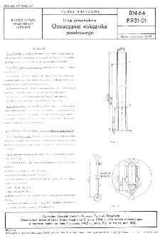 Drogi samochodowe - Oznaczanie wskaźnika piaskowego BN-64/8931-01