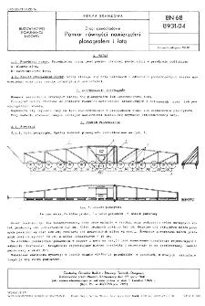 Drogi samochodowe - Pomiar równości nawierzchni planografem i łatą BN-68/8931-04