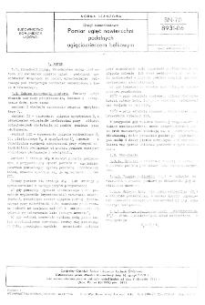 Drogi samochodowe - Pomiar ugięć nawierzchni podatnych ugięciomierzem belkowym BN-70/8931-06