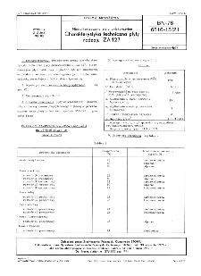 Niewulkanizowane płyty antykorozyjne - Charakterystyka techniczna płyty rodzaju IZA-127 BN-76/6616-15/21