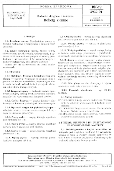 Budowle drogowe i kolejowe - Roboty ziemne BN-72/8932-01