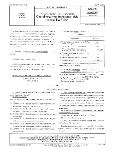 Niewulkanizowane płyty antykorozyjne - Charakterystyka techniczna płyty rodzaju EWA-621 BN-76/6616-15 Arkusz 22