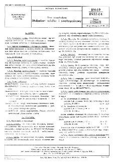 Drogi samochodowe - Makadam asfalto- i smołospoinowy BN-69/8933-04