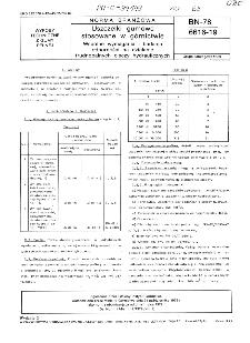Uszczelki gumowe stosowane w górnictwie - Wspólne wymagania i badania odporności na działanie trudnopalnych cieczy hydraulicznych BN-78/6616-19