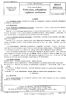 Drogi samochodowe - Podbudowy półwgłębnie i wgłębnie smołowane BN-67/8933-06