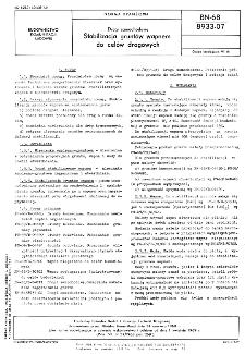 Drogi samochodowe - Stabilizacja gruntów wapnem do celów drogowych BN-68/8933-07