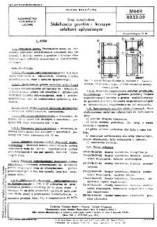Drogi samochodowe - Stabilizacja gruntów i kruszyw asfaltami upłynnionymi BN-69/8933-09
