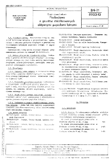 Drogi samochodowe - Podbudowa z gruntów stabilizowanych aktywnymi popiołami lotnymi BN-71/8933-10