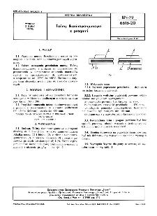 Taśmy tkaninowo-gumowe z progami BN-79/6616-20