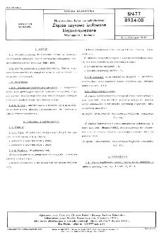 Nawierzchnia kolei normalnotorowej - Złącza szynowe izolowane klejono-sprężone - Wymagania i badania BN-77/8934-08
