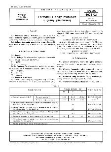 Formatki i płyty meblowe z gumy piankowej BN-85/6626-03