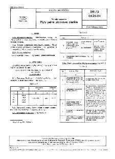 Wyroby gumowe - Płyty pełne piankowe cienkie BN-73/6626-04