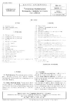 Torowiska tramwajowe - Wymagania i badania techniczne przy odbiorze BN-91/8938-01