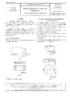 Wyroby gumowe porowate formowe - Ocena wykonania i wykończenia BN-71/6630-01