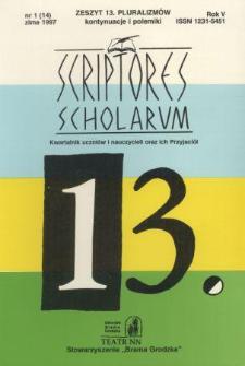 Scriptores Scholarum : kwartalnik uczniów i nauczycieli oraz ich Przyjaciół R. 5, nr 14 zima1997