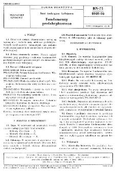 Sieć trakcyjna kolejowa - Fundamenty prefabrykowane BN-73/8939-06