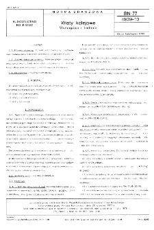 Wiaty kolejowe - wymagania i badania BN-77/8939-10