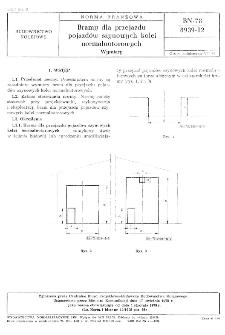 Bramy dla przejazdu pojazdów szynowych kolei normalnotorowych - Wymiary BN-78/8939-12