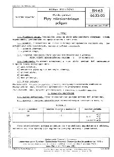 Wyroby gumowe - Płyty mikrokomórkowe poligum BN-63/6633-05