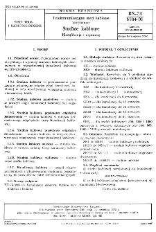Telekomunikacja sieci kablowe miejscowe - Studnie kablowe - Klasyfikacja i wymiary BN-73/8984-01