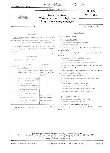 Przetwory grzybowe - Wymagania mikrobiologiczne dla grzybów marynowanych BN-85/9230-03