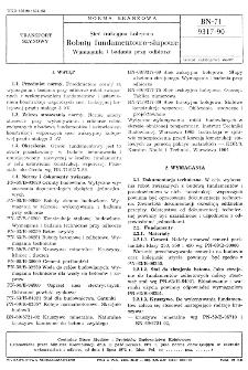 Sieć trakcyjna kolejowa - Roboty fundamentowo-słupowe - Wymagania i badania przy odbiorze BN-71/9317-90